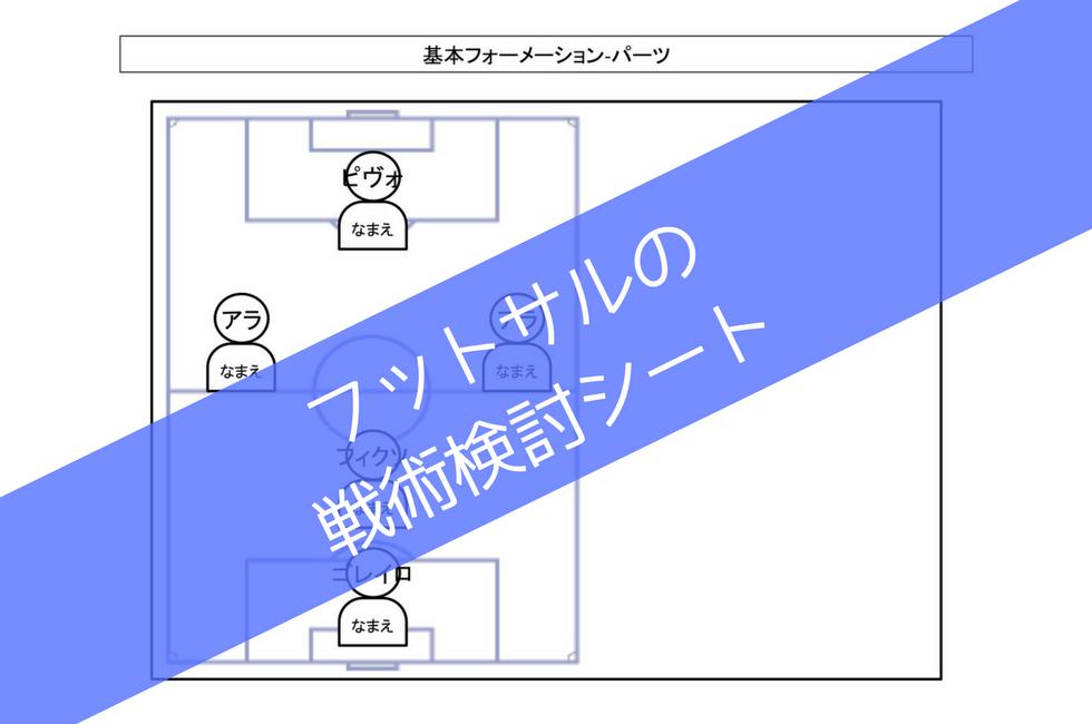 フットサルの戦術検討シート(.jpg/.pdf/.pptx)
